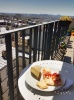 Lunch time on the balcony was always nice. A bit of France and a bit of Spain that day.