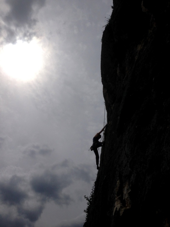 Climbing at Stilo
